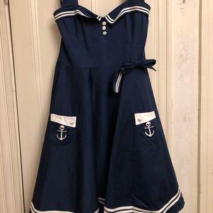 Hell Bunny Plus Size Rockabilly Retro Dress 3X